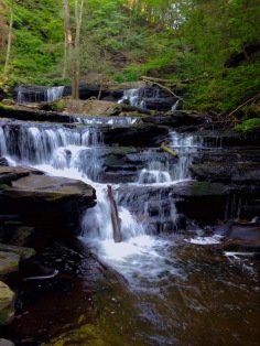 Ricketts Glen State Park Waterfall, Falls Trail Hike