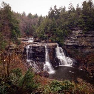 waterfall, hike, canaan valley, west virginia, blackwater falls